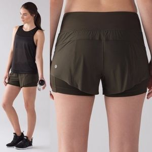 Lululemon Squard Goals Dark Olive Green Shorts 10